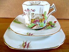 Art Deco / Vintage China Tea Set Trio.Sutherland China.1360.British.