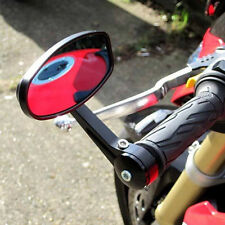 Black Motorcycle Handle Bar End Rearview Side Mirrors For Kawasaki Z800 Z250 ABS