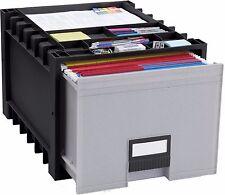 "STOREX Plastic Archive Storage Box w/Lock, Letter, 18"" Drawer, BLK (61178U01C)"