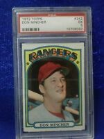 1972 TOPPS#242 DON MINCHER CARD GRADE A 5 BY PSA