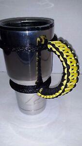2 Color Paracord Handles for 40oz,30oz, & 20oz Yeti, Rtic, Sic, Ozark Trail Cups