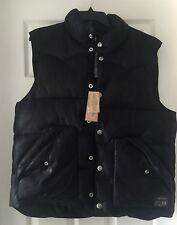 Denim & Supply Ralph Lauren Polo Black Puff Puffer Down Vest Jacket L $145 NWT