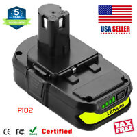 NEW For P108 P102 Ryobi 18V One Plus Lithium High Capacity Compact Battery P104