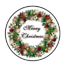 "48 Christmas Wreath #3 !!!  ENVELOPE SEALS LABELS STICKERS 1.2"" ROUND"