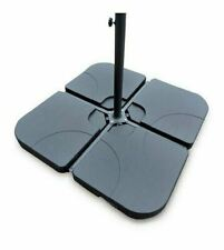 More details for 4 x square parasol base stand weights for banana hanging cantilever umbrella