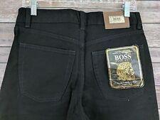 New Hugo Boss Mens Jeans Select Line Straight Leg Black Denim Size 32 x 34