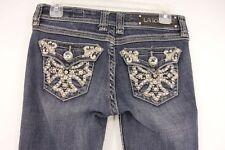 LA IDOL Jeans Women's 3 Medium Wash Mid Rise Skinny