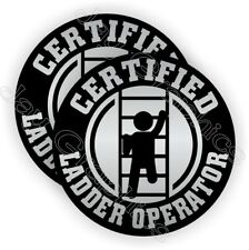 Funny Ladder Operator Hard Hat Stickers | Safety Helmet Decals Labels Laborer