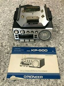 Pioneer KP-500 Supertuner Cassette Player with mounting bracket box manuel car