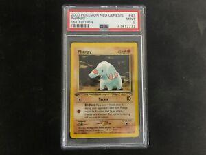 2000 Pokemon 1st Edition Phanpy 43/111 NEO GENESIS PSA 9 MINT