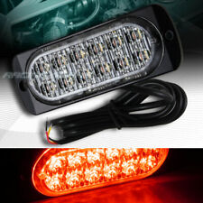 12 LED RED CAR EMERGENCY BEACON HAZARD WARNING FLASH STROBE LIGHT BAR UNIVERSAL