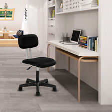 Height Adjustable Mid-back Mesh Office Chair Swivel Armless Office Home Black