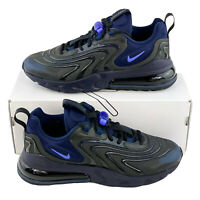 Nike Air Max 270 React ENG Black Sapphire Men's Shoes Sneakers Blue CD0113 001