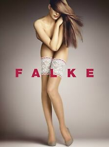 Falke Bavaria 15 Den Ladies Stay Ups Hold-Ups Stockings With Wide Lace Band