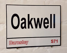 Barnsley fc   Oakwell Stadium Ground Street Sign metal Aluminium Football stand