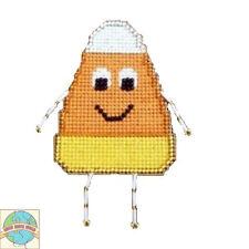 Cross Stitch Kit ~ Halloween Yummy Candy Corn Buddy #K005