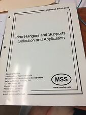 MSS SP-58-2009 Pipe Hangers and Supports