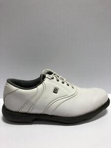 FootJoy Men's FJ Originals, White Golf Shoes, Size 12M.