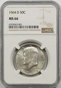 1964-D 50C NGC MS 65 Silver Kennedy Half Dollar
