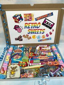 Old Fashioned Retro Sweet Mix Gift Box hamper Birthday, Christmas, halloween
