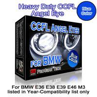 30000K Blue Heavy Duty BMW CCFL Angel Eye Halo Ring 131 mm x 4 E46 E39 E38 E36