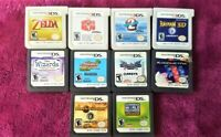 Lot of 9 Nintendo 3DS and DS games with protective hard shell