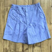 Vintage Women's Lavender High Waisted Pleated Elastic Waist Size Small