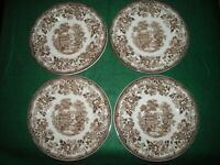 """2 Royal Staffordshire Tonquin brown 6 1/2"""" bread plates"""