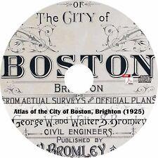 1925 Atlas of Brighton, Boston, Massachusetts - History Maps Book on CD