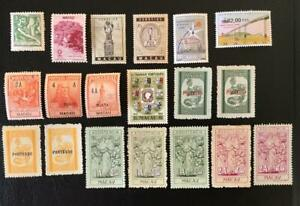 MACAU. GOOD LOT OF 19 BETTER OLD MLH/MNGAI ISSUES. GOOD CAT.VAL. LOOK!