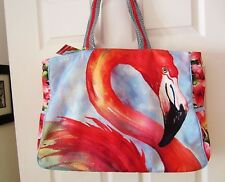 Sun N Sand Flamingo Beach or Tote Bag-Giant Mingo Face Both Sides-$62 value--NWT