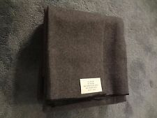 Gray Wool Blend Blanket Emergency Survival Camping Military Style over 4 pounds