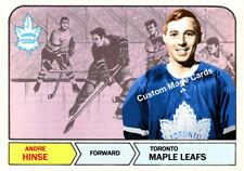 Custom made  Topps 1968-69 Toronto Maple Leafs Andre Hinse hockey card