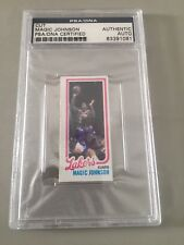 Magic Johnson Signed Auto 1980 Topps Rookie Card RC