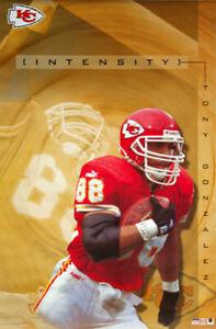 Tony Gonzalez INTENSITY Kansas City Chiefs 2001 Vintage Original NFL POSTER