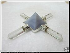 Jet Exquisite New Lace Agate Pyramid Energy Generator Conical 4 Points Wow