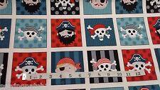 Pirate, Pirates Labels , 33 labels. 100% cotton. makower 1675