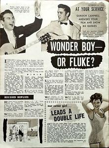 Elvis Presley Wonder Boy Or Fluke? Vintage Music Article 1956