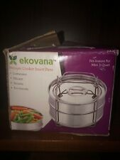 3qt Mini Stackable Stainless Steel Pressure Cooker Steamer Insert Pans With