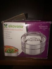 New listing 3qt Mini Stackable Stainless Steel Pressure Cooker Steamer Insert Pans With