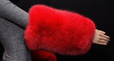 Genuine Red Fox Fur Handmade Cuffs Arms Warmers Wristbands