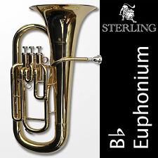 EUPHONIUM • STERLING Pro Quality • Brand New • Three Valves • With Case •
