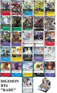 Digimon Card Bandai Double Diamond BT6 Holo Rare Full Card List Japanese