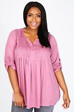 Bluse Gr.46 Tunikabluse Zierperlen rosa rose´ Damen Babydoll Tunika Strass Hemd