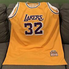 Magic Johnson 32 Lakers Size 56 2XL Basketball Jersey