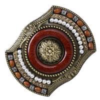 Western Bohemian Cowboy Indian Rodeo Novelty Bead Decor Belt Buckle Brass