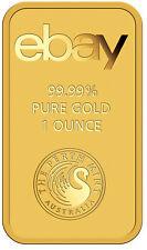 eBay & Perth Mint 1oz Gold Bar .9999 Fine in Assay