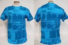 Ghetto Blaster Boombox Collage Cassette Player Radio Hip Hop DJ Retro M  T-shirt