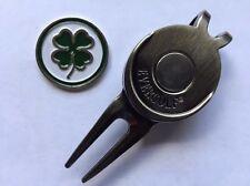 Lucky Irish Clover Golf Ball Marker and Magnetic Divot Tool