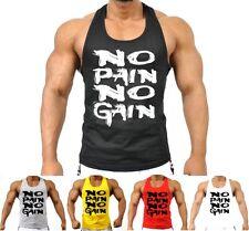 Mens MMA GYM BODYBUILDING MOTIVATION VEST BEST WORKOUT CLOTHING TRAINING TOP